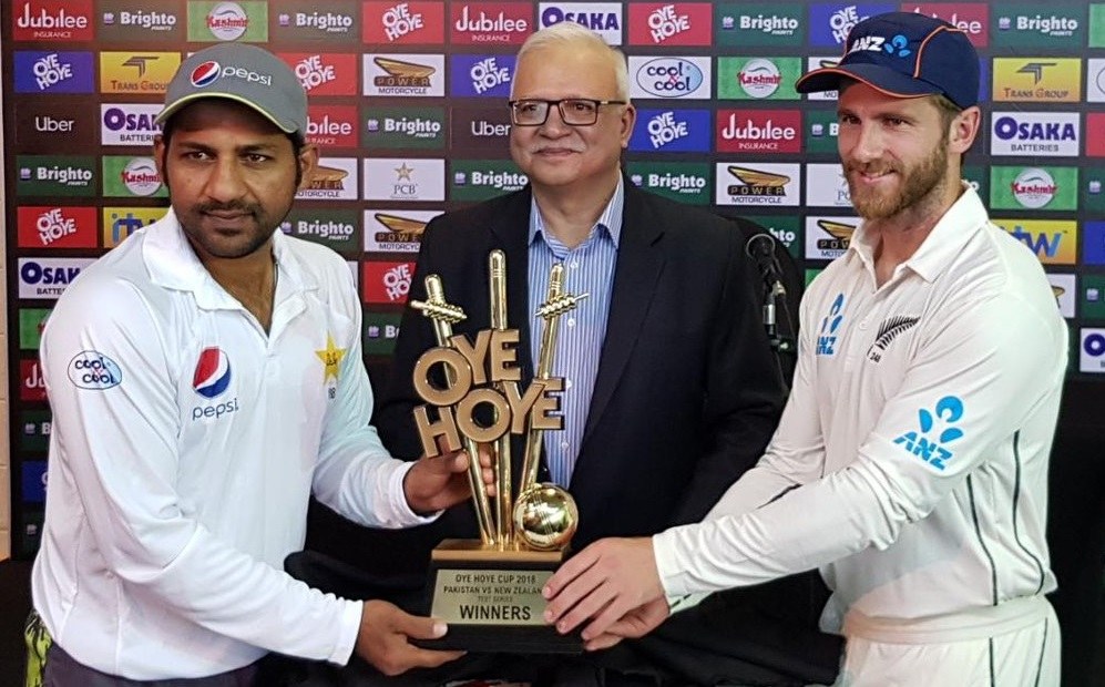 New Zealand have won the toss and elected to bat first in the 1st Test being played in Abu Dhabi