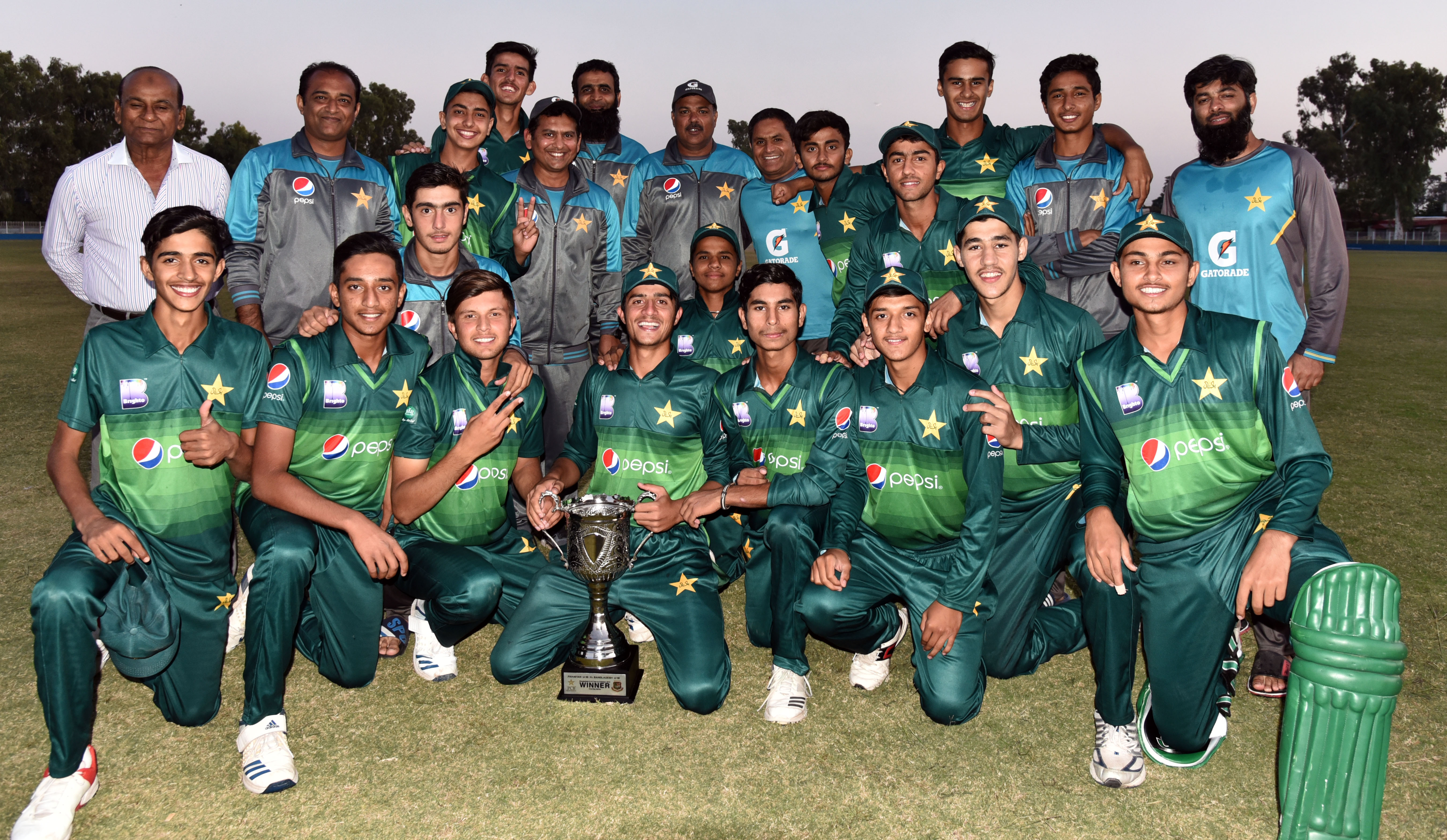 Pakistan U16s beat Bangladesh U16s by seven runs (DLS) to win 50-over series by a 2-0 margin