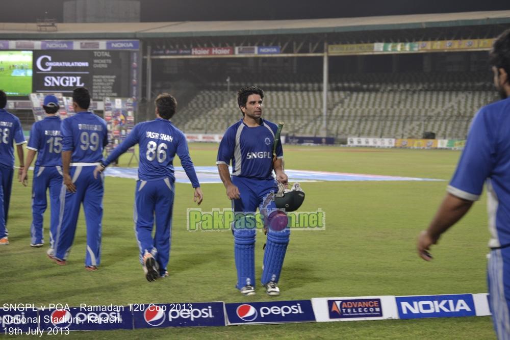 SNGPL vs PQA - Ramadan T20 Cup 2013