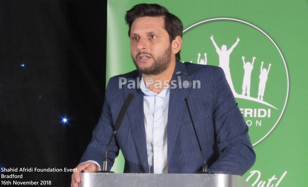 Shahid Afridi Foundation Event Bradford 16th November 2018