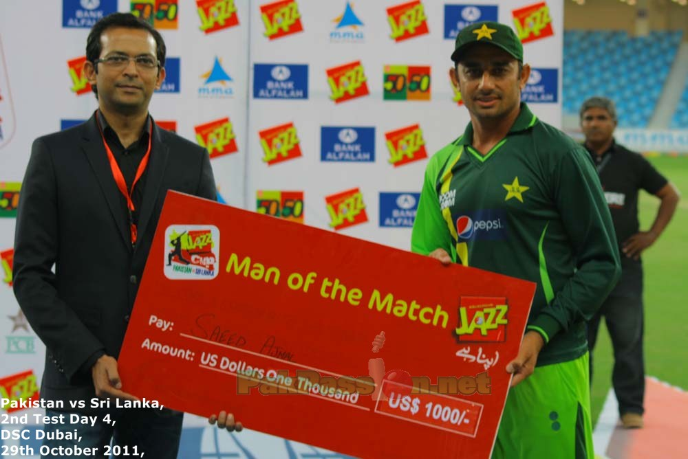 Saeed Ajmal: Man of the Match