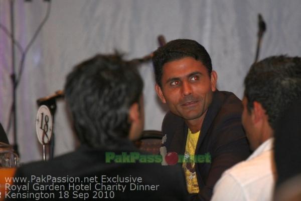 Pakistani Players at Fundraising Dinner Night