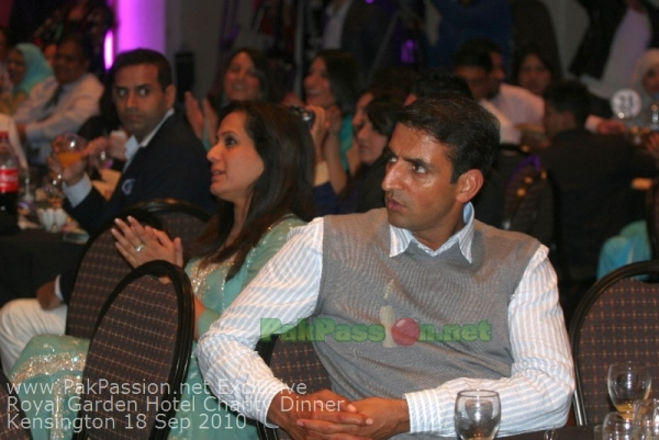 Pakistani Players at Fundraising Dinner Night