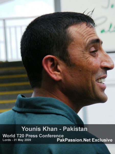 Younis Khan in a light mood at Lords Press Conference