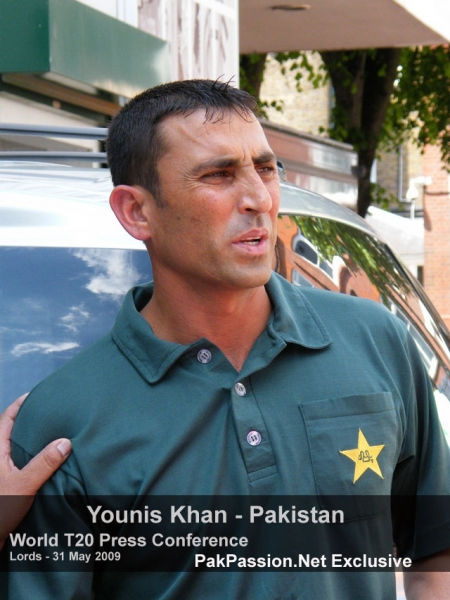 Younis Khan outside Lords