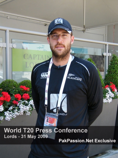 Daniel Vettori outside the Captain's Lounge at Lords