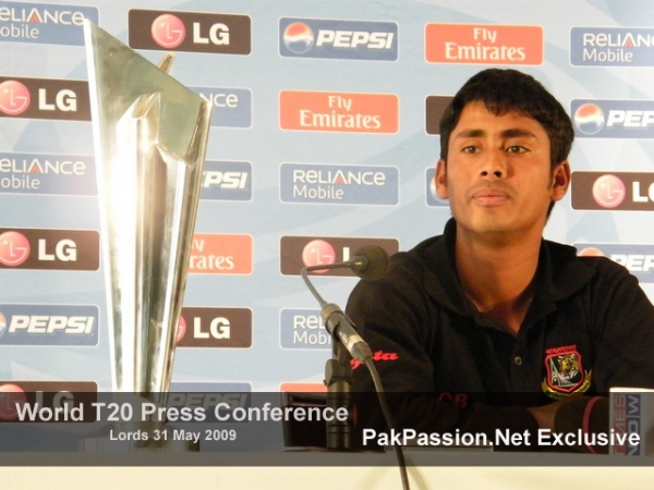 Mohammed Ashraful talks to the media at Lords Press Conference