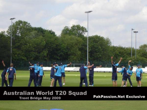 Australian team train at Trent Bridge