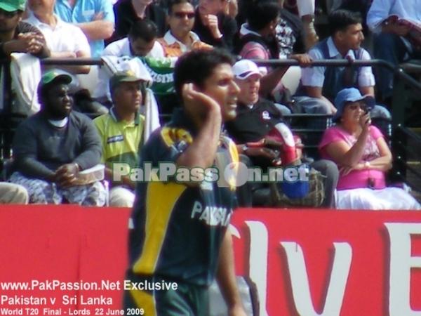 Abdul Razzaq in action on the field
