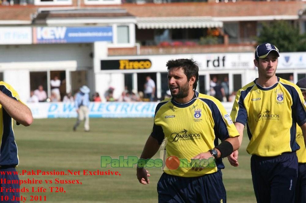 Shahid Afridi Hampshire Shahid Afridi