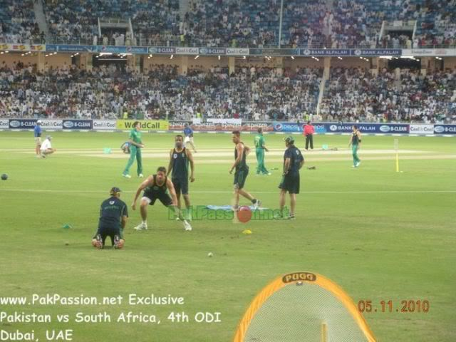 South African Players Warming Up