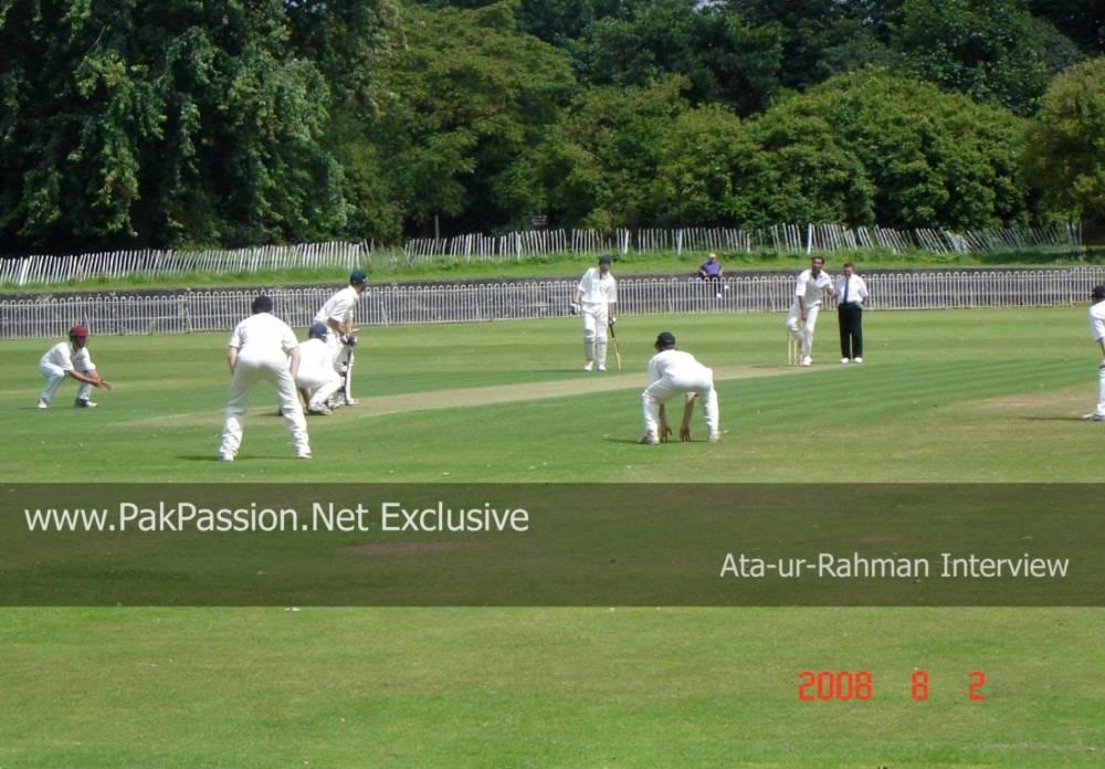 Ata ur Rehman bowling at Sefton Park versus Northop Hall
