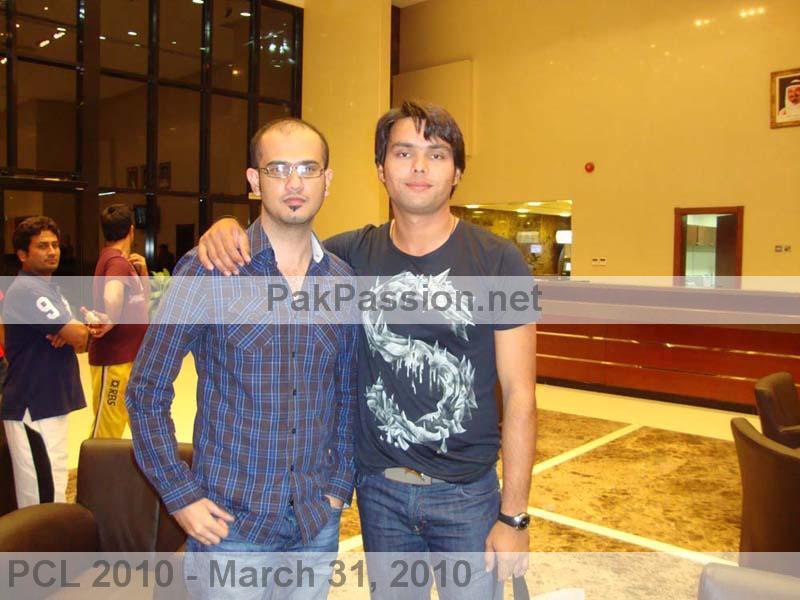 PP representative Junaid with Khurram Manzoor