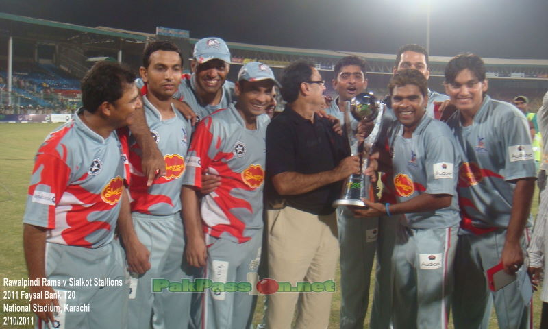 Sialkot Stallions pose with the FBT20 Cup