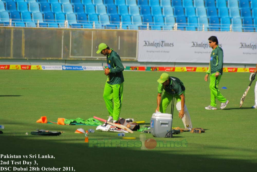 Junaid Khan during a practice session