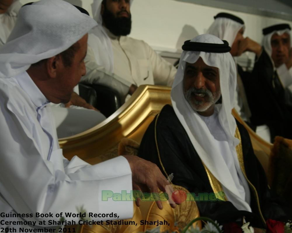 His Highness Sheikh Nahyan bin Mubarak Al Nahyan with Abdul Rahman Bukhatir