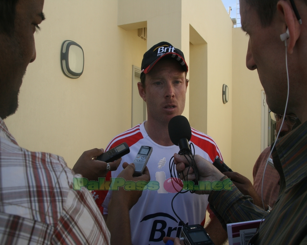 Ian Bell talking to the press
