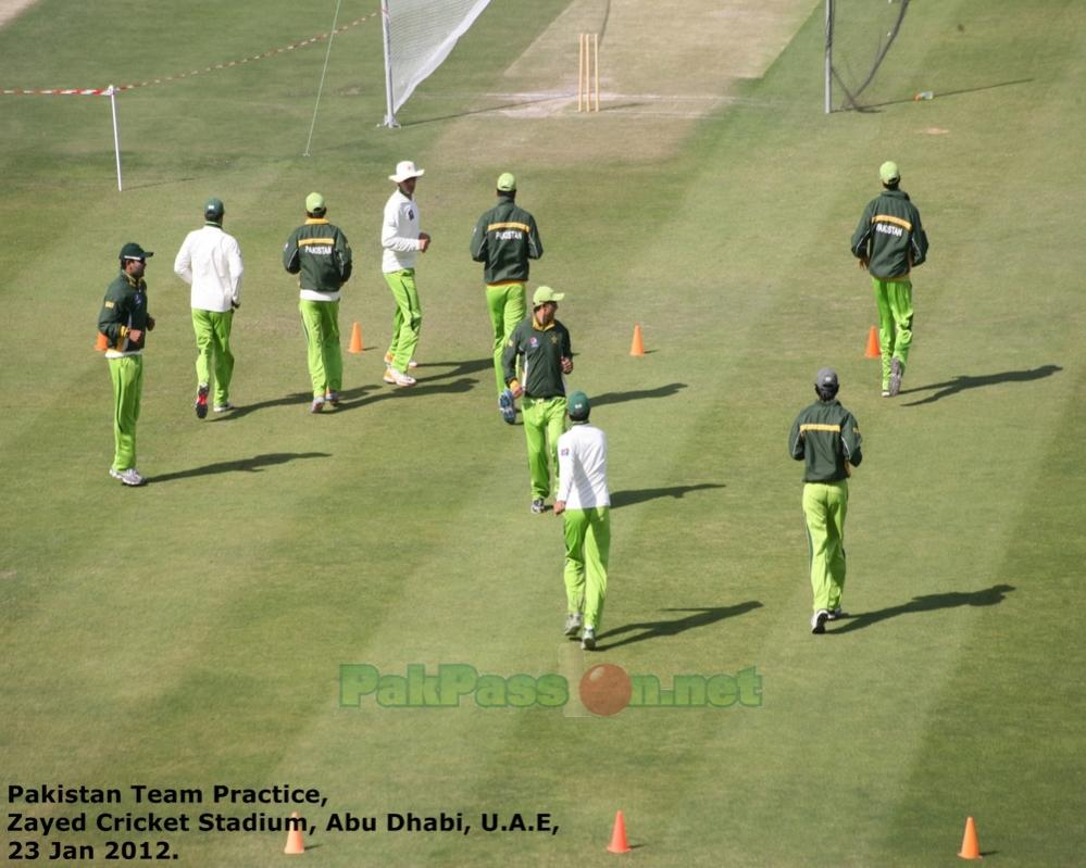 Pakistan's Training Session at Shiekh Zayed Stadium | Abu Dhabi | 23 Januar