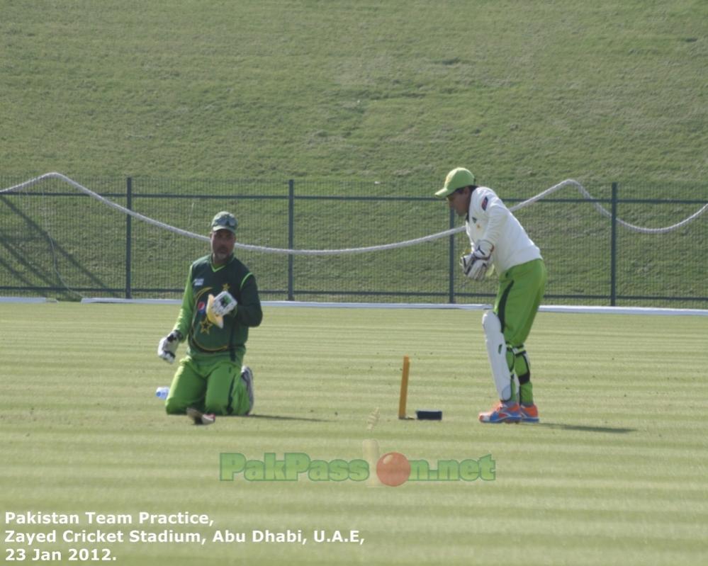 Pakistan's Training Session at Shiekh Zayed Stadium   Abu Dhabi   23 Januar