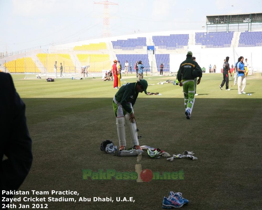 Pakistan's Training Session at Shiekh Zayed Stadium | Abu Dhabi | 24 Januar
