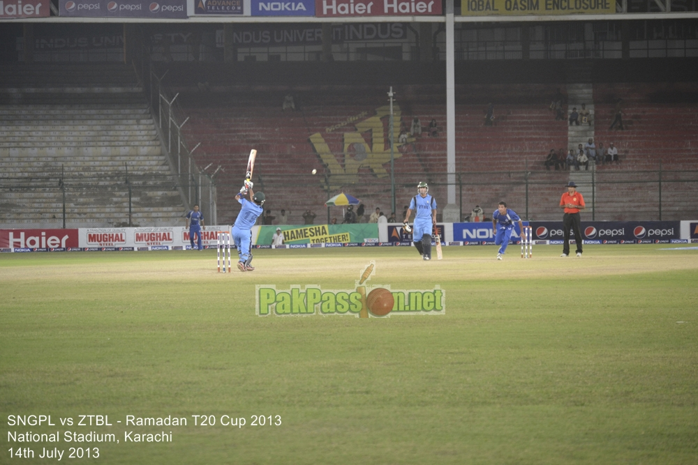 SNGPL vs ZTBL - Ramadan T20 Cup 2013