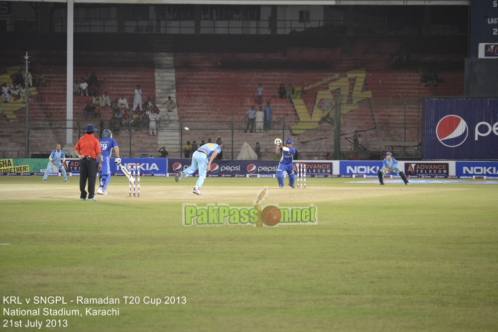 KRL vs SNGPL - Ramadan T20 Cup 2013