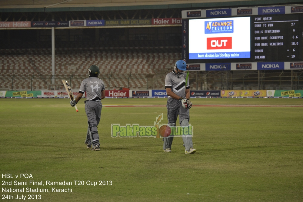 HBL vs PQA - Semi Final - Ramadan T20 Cup 2013