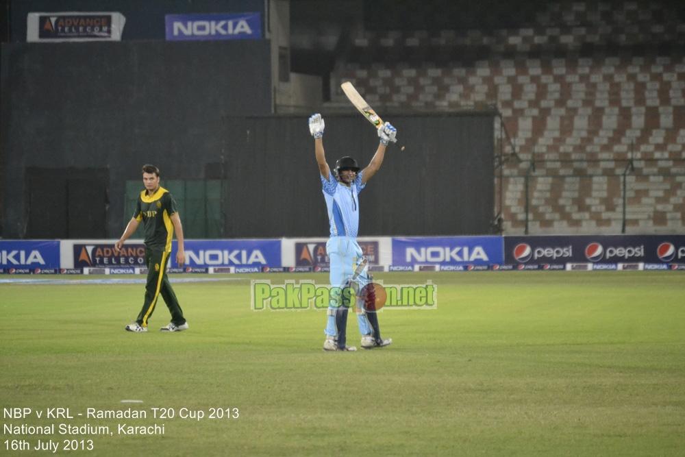 NBP vs KRL - Ramadan T20 Cup 2013