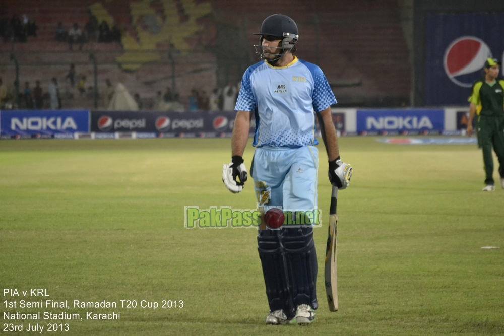 PIA vs KRL - Semi Final - Ramadan T20 Cup 2013