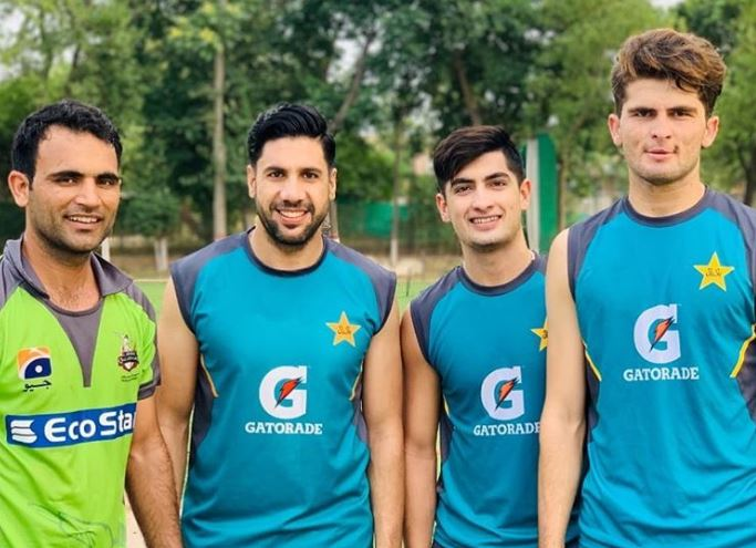 Pakistan players train ahead of the proposed tour of England