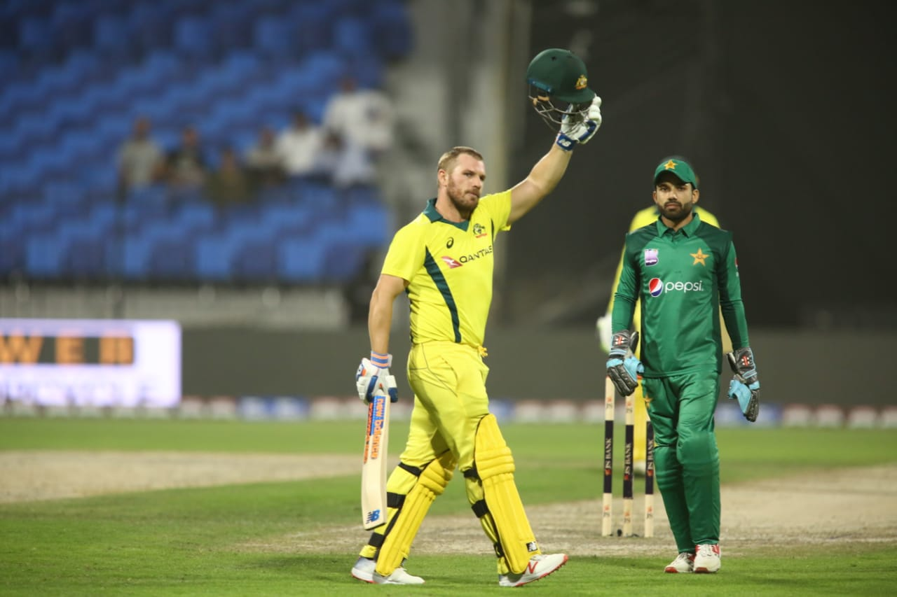 Aaron Finch hits 155* as Australia comfortably defeat Pakistan by 8 wickets in 2nd ODI at Sharjah