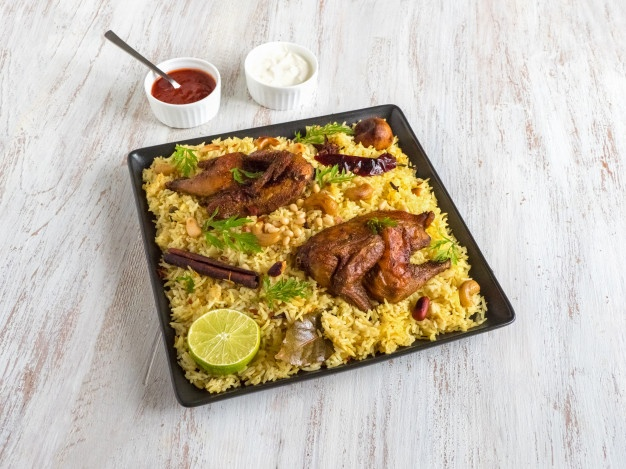 Name:  homemade-chicken-biryani-arabic-traditional-food-bowls-kabsa-with-meat-top-view_158388-2698.jpg Views: 48 Size:  111.3 KB