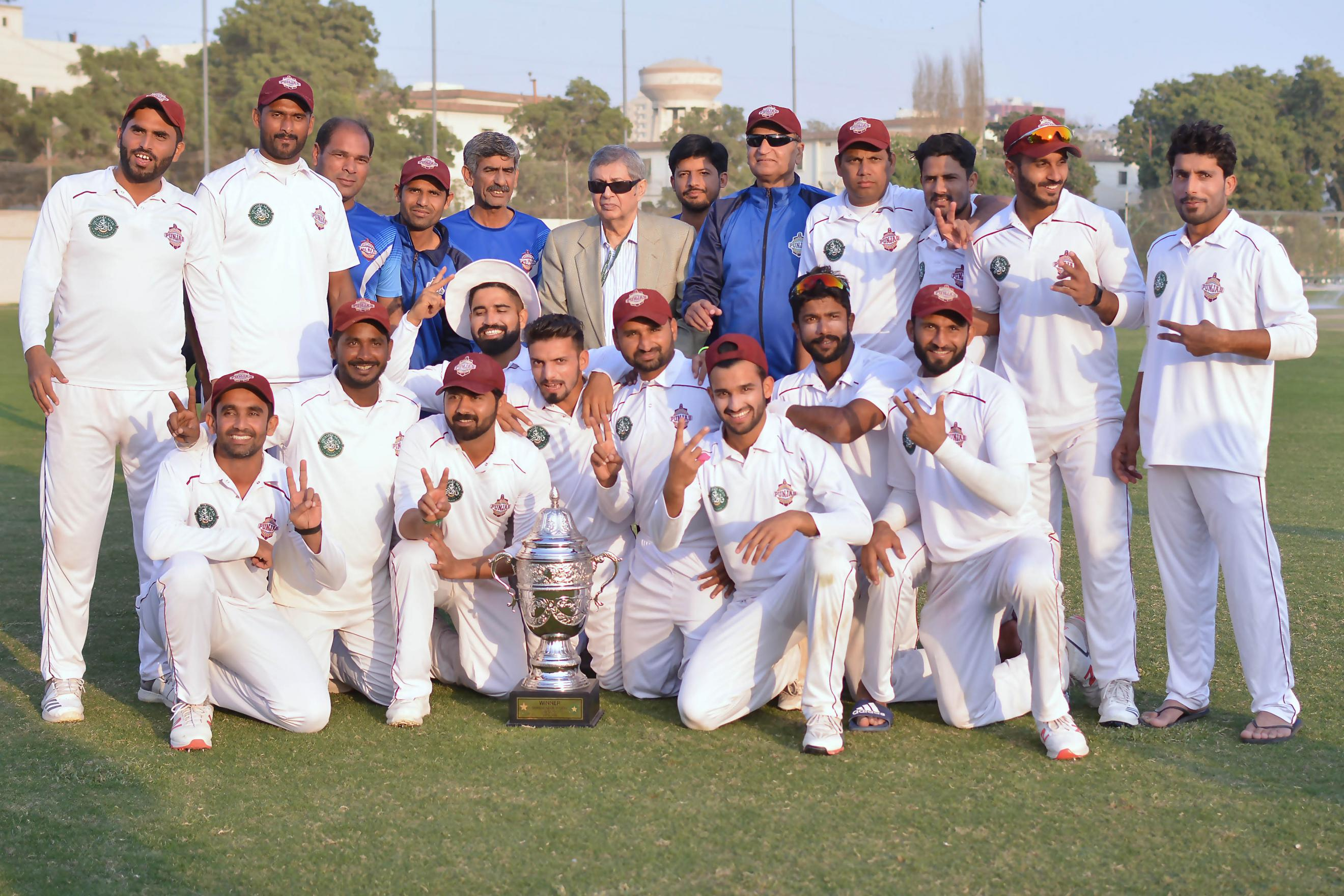 Name:  Southern Punjab  winners of the Quaid-e-Azam Trophy 2nd XI Tournament 2019 in a group photo with.jpg Views: 64 Size:  551.2 KB