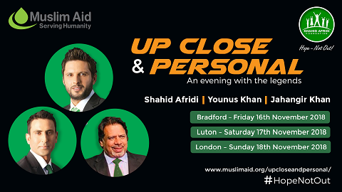 An evening with Shahid Afridi and Younis Khan